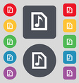 Audio MP3 file icon sign A set of 12 colored vector image
