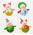 clowns set vector image vector image