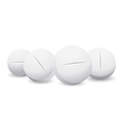 four white pills vector image
