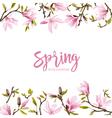 Spring Blossom Background - Magnolia Flowers vector image