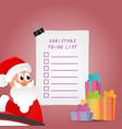 beautiful christmas to-do list vector image