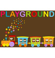 Playground announcement vector image