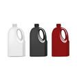 realistic template blank color plastic bottle set vector image