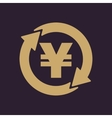 The currency exchange yen icon Cash and money vector image