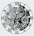 watch parts clock mechanism with cogwheels vector image