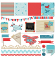 Baby Boy Plane Elements vector image