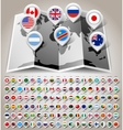 Map world with flags vector image vector image