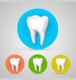 tooth set color collection template design vector image
