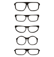 Black hipster glasses set with thick holder vector image