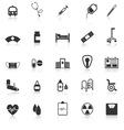 Hospital icons with reflect on white background vector image