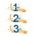Awards emblems set vector image