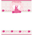 stylish wedding invitation card with vintage vector image