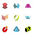 logo design elements set 18 vector image vector image
