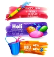 Holi banner for sale and promotion vector image vector image