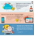 Three banners data protection vector image