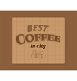 coffee banner template vector image