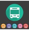 Bus icon flat web sign symbol logo label vector image