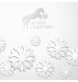 Creative christmas snow cristalls vector image
