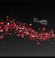 glittering red stream of sparkles vector image