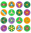 set of 16 spinners of different shapes vector image