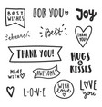 set of text labels vector image