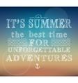 Summer adventures poster vector image