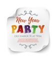 New Year party poster template on white vector image