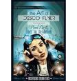 Attractive Club Disco Flyer with a Girl Dj vector image vector image