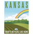 Retro travel poster Kansas vector image vector image