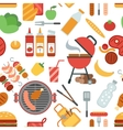BBQ party seamless vector image