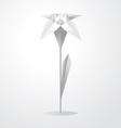 origami flower vector image