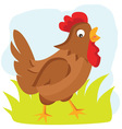 Cartoon hen vector image