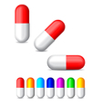 icon of colored tablets vector image vector image