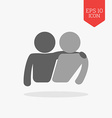 Friends icon Flat design gray color symbol Modern vector image