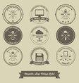 Computer Shop Vintage Label vector image