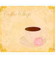 Cup of coffee with abstract design elements - vector image
