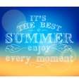 Enjoy summer poster vector image