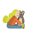 girl bear vector image