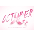 Breast cancer awareness vector image