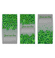 set banners of clover leaves vector image