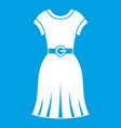 dress icon white vector image