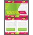 brochure design template geometric abstract vector image vector image
