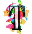 Artistic Font - Letter T vector image