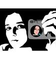 mirror image vector image vector image