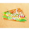 Burger sandwich kraft vector image vector image