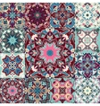 seamless patchwork background from colorful vector image
