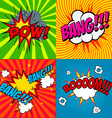 Set of comic style phrases vector image