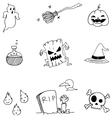 Doodle of Halloween with hand draw vector image