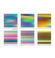 fluid colors backgrounds set holographic effect vector image