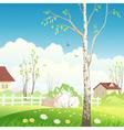 Spring village vector image